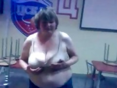 drunk russian woman shows striptease