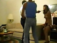 spouse forces wife to fuck an old dark man with a