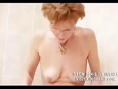 perverted grandma peeing and shaving