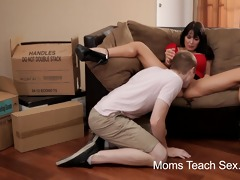 youthful pair acquires fuck lessons from mama