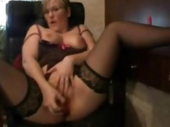 hawt older wife plays with her snatch when spouse