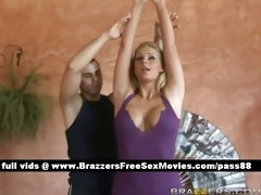 marvelous blond angel does yoga