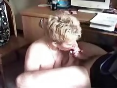golden-haired wife sucks pounder