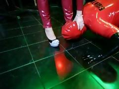 ella kross:shoe and foot worshiping bondman