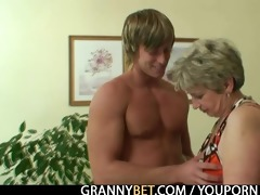 old housewife receives nailed by an juvenile lad