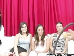 cfnm ladies watch the model receive wanked