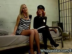 redhead cop whips ass to golden-haired d like to