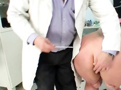 aged vilma has her pussy properly gyno checked at