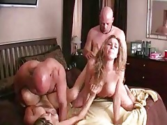 sexually excited wives exchange husbands! milf