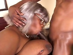 big beautiful woman black grandma gets a piece of