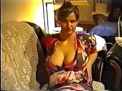 wife flashing big titties in a brassiere