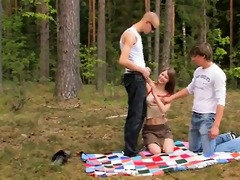 dilettante czechian trio in the forest