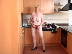granny solo in the kitchen