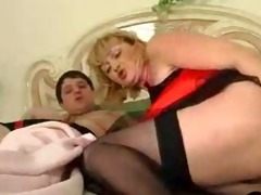 golden-haired big beautiful woman has an anal