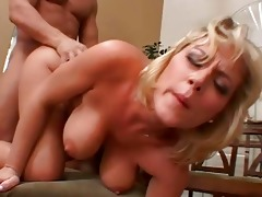 blond milf receives her twat pounded on chair