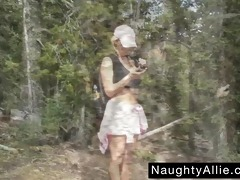 mountain trail masturbation – exhibitionist wife