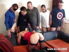 sophie team-fucked by hardly any guys