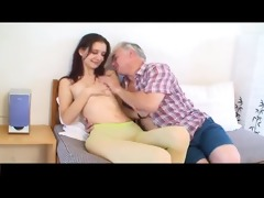 small tittted beauty gets drilled by mature dude