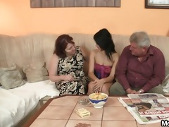 wicked angel fucking with her bfs old parents