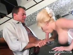 wicked blonde wife taking a weenie anally