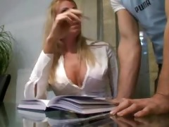 real wife plays his concupiscent secretary