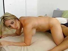 golden-haired mother i strips orange underware