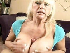 tanned blond momma with biggest hooters doing