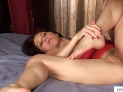 busty mommy copulates her bushy love tunnel