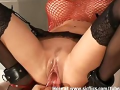 fisting and stretching my sexy girlfriends giant