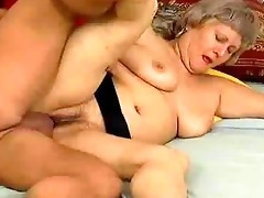 insane old mama gets drilled hard