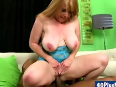 horny mamma bonks darksome knob