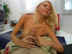 voluptuous angel riley evans attacks a cock with