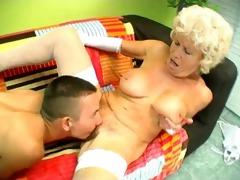 shaggy granny muff diving