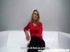czech non-professional milf acquires load to