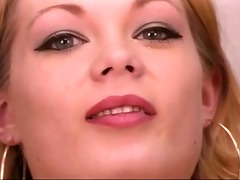 mature leggy blond spreads her beautiful vagina