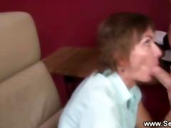 brunette hair concupiscent therapist sucks on her