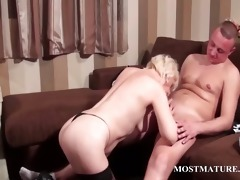 sexy aged takes weenie in throat and vagina