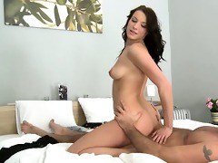 victoria rides a hard dick in the reverse cowgirl