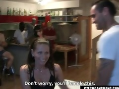 wifes fantasy comes true at czech gang group-sex
