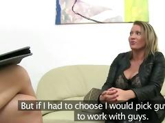 mature woman banging on leather ottoman