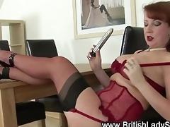 underware slut masturbates