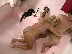 milf whore seduces her plumber for three-some