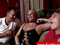 older golden-haired hooker sucks a cock