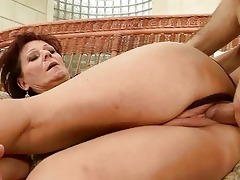 sexy granny enjoys hard sex with her paramour