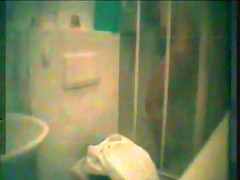 wife beneath shower