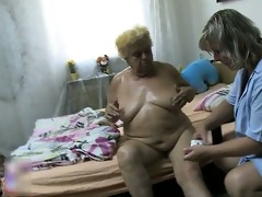 obscene older whore acquires her body rubbed