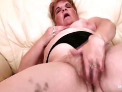 big beautiful woman concupiscent aged working her