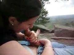 my wife engulfing my ramrod in the open