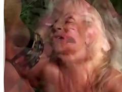 unattractive perverse granny receives a gulp by