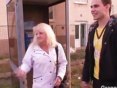 nasty granny in nylons rides penis